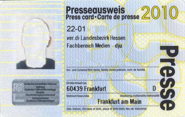Журналист по паспорту или еще раз о единой пресс-карте