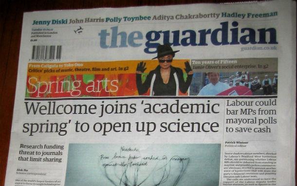 Британская газета Guardian поднимает цены в розницу